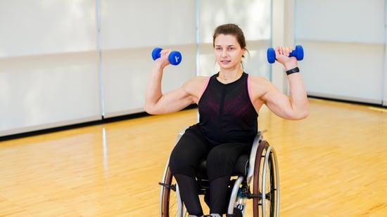 Overhead Presses Wheelchair Exercises