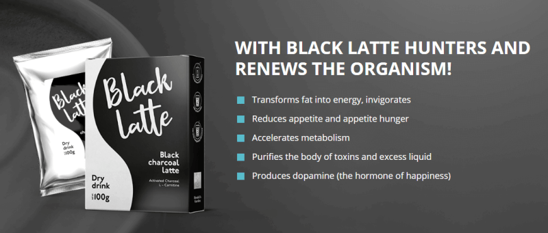 black latte drink with charcoal for weight loss
