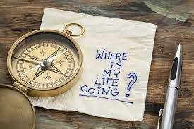 picture of compass with piece of paper which reads where is my life going