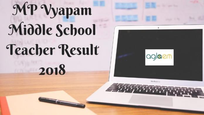 MP Vyapam Middle School Teacher Result 2018