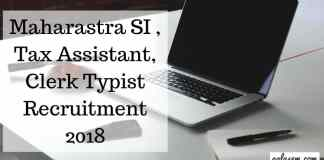 Maharastra-SI-Tax-Assistant-Clerk-Typist-Recruitment-2018-Aglasem