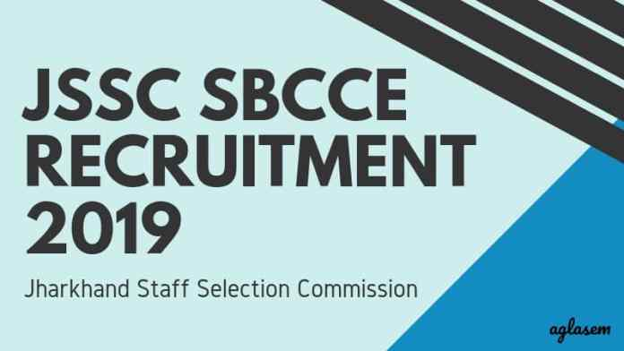 JSSC SBCEE Recruitment 2019 Aglasem
