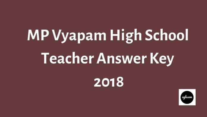 MP Vyapam High School Teacher Answer Key 201