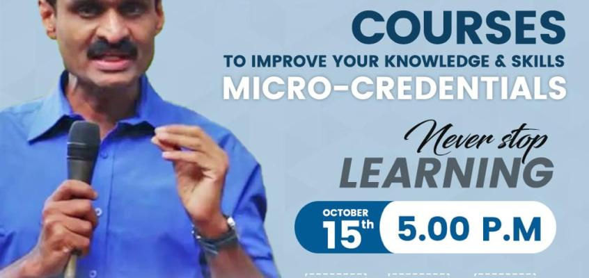 """Workshop on """"Globally accepted online courses to improve your knowledge and skills – Micro-Credentials"""" 