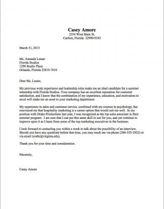 Copy Of A Cover Letter For Resume