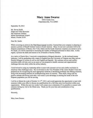 Cover Letter Samples  UVA Career Center