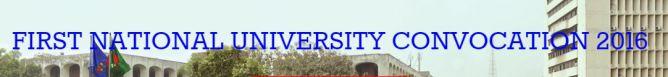First NU Convocation 2016 Online Registration