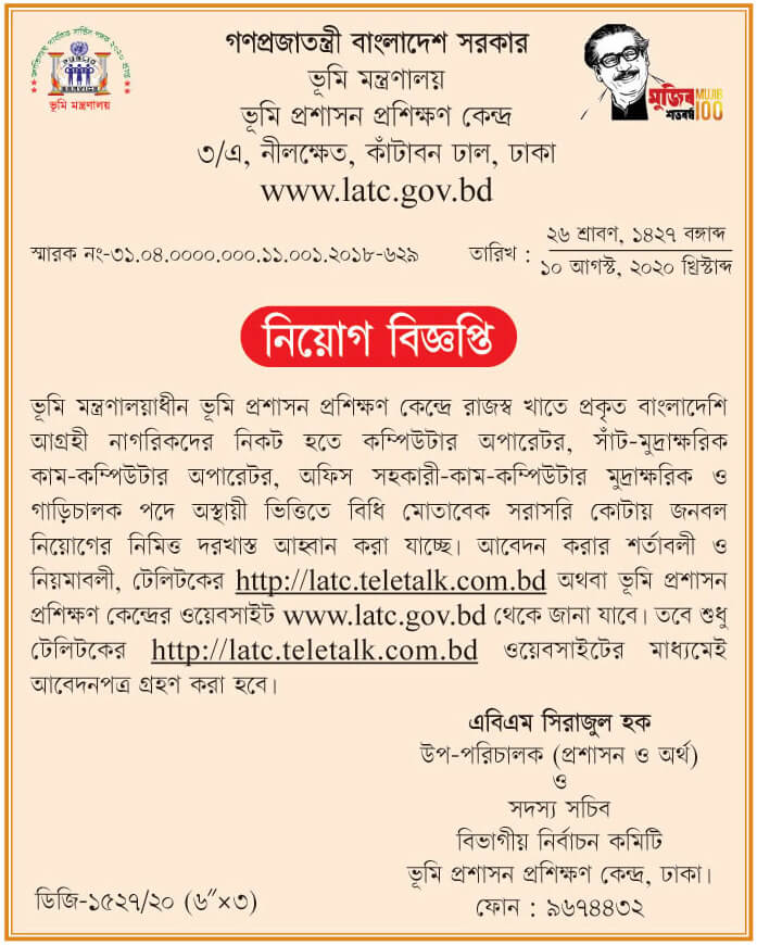 ministry-of-land-job-circular-2020