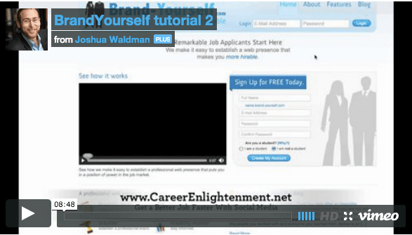 Brand-Yourself.com Tutorial