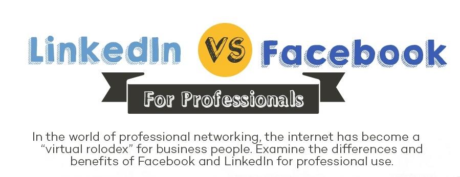 [Infographic] LinkedIn Versus Facebook