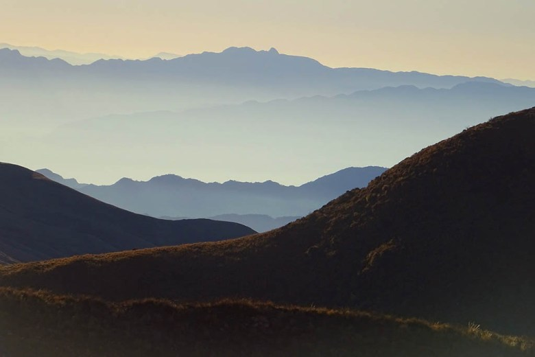 Los Cardones National Park between Cachi and Salta looks stunning at dawn