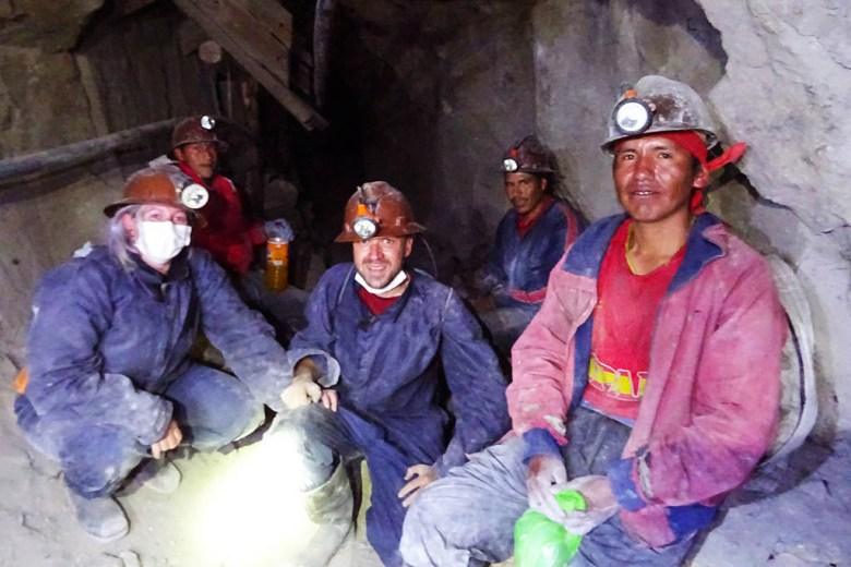We met workers inside the Potosí mines and gave them gifts of dynamite, pop and coca leaves
