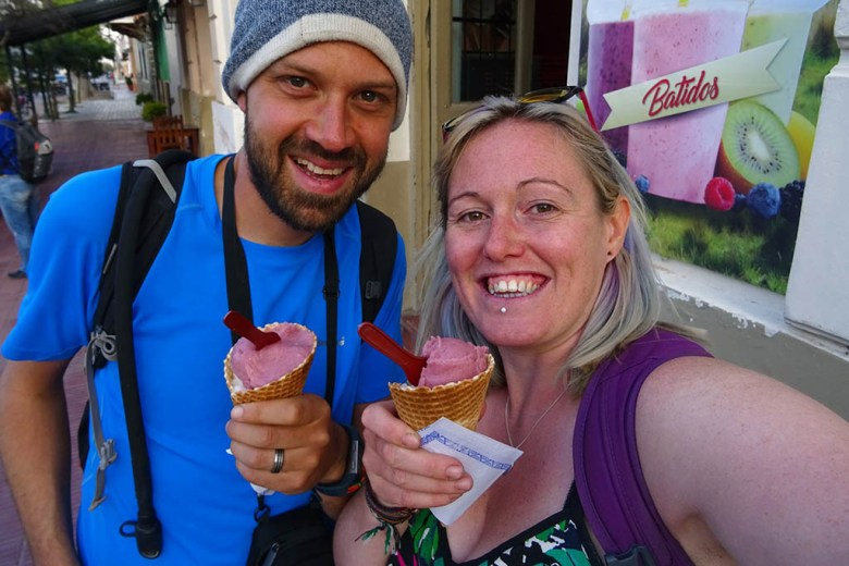 In Cafayate we indulged in some wine-flavoured ice cream!