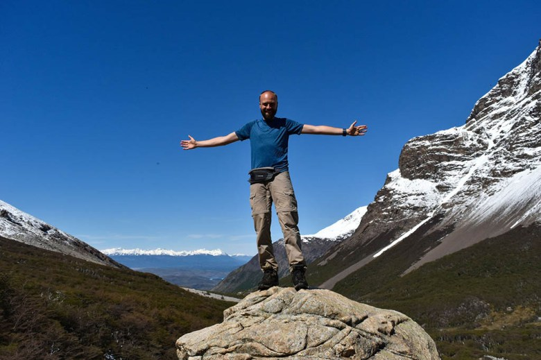 Enjoying the view at the summit of Mirador Británico on day 3