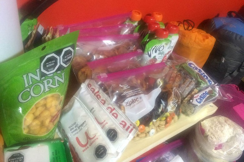 We stocked up on snacks for the W Trek to keep our energy levels up