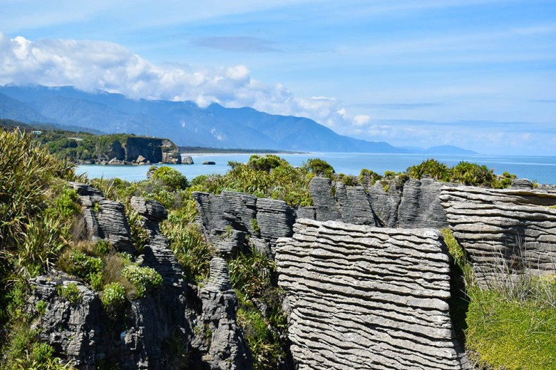 The Pancake Rocks were formed 30 million years ago by compressed plants and dead marine creatures