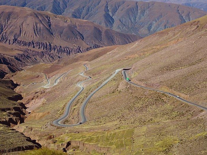 Road from San Pedro de Atacama to Salta - Argentina
