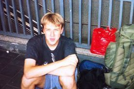 Me travelling in Europe in 2001, aged 18