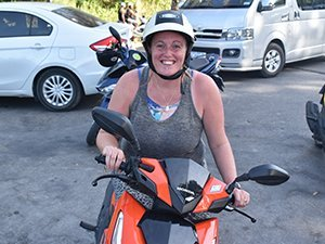 Lisa moped Phuket Thailand