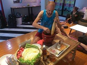 Thai cooking class Alex