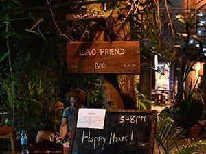 Outside Lao Friend Bar, Luang Prabang, Laos