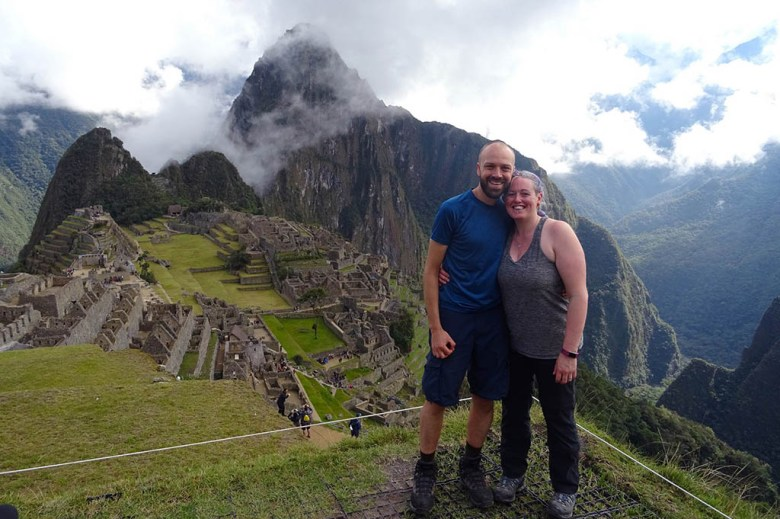 Alex and Lisa at Macchu Picchu