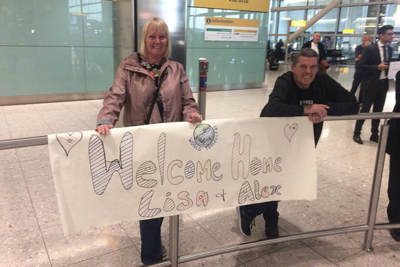 Heathrow Airport homecoming