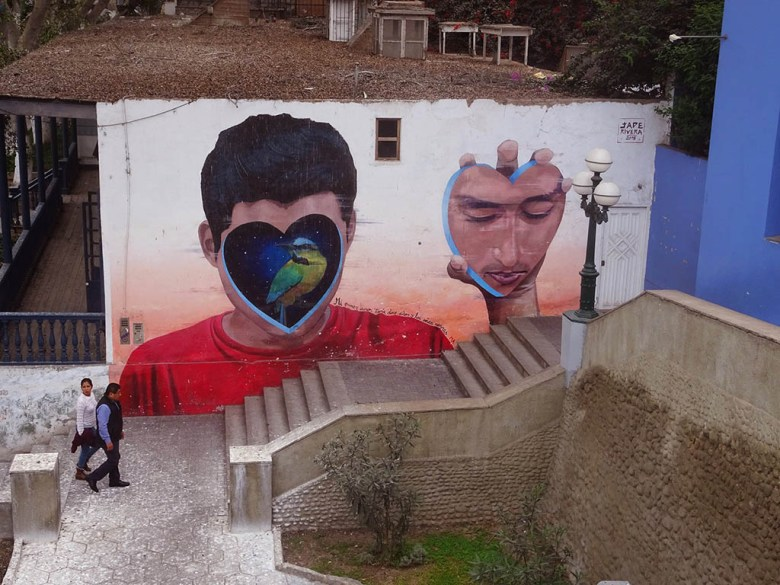 Street murals on Bajada de los Baños, Barranco