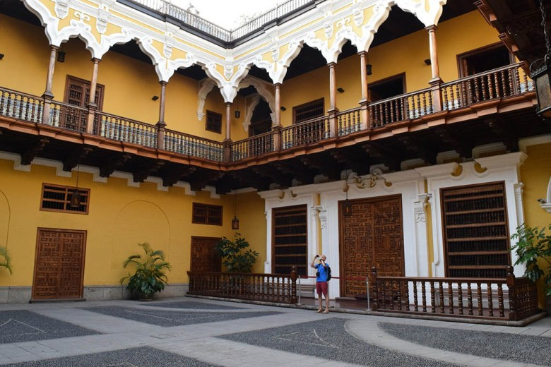 Inside the lower grounds of Palacio Torre Tagle