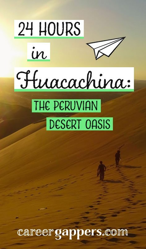 The desert village of Huacachina is a postcard-picture paradise that makes for an ideal backpacker's journey break between Lima and Cusco. We spent 24 hours in this little oasis. Here's some ideas from our trip to help inspire yours.