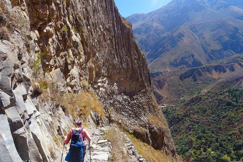 Navigating the steep faces of the world's second-deepest canyon