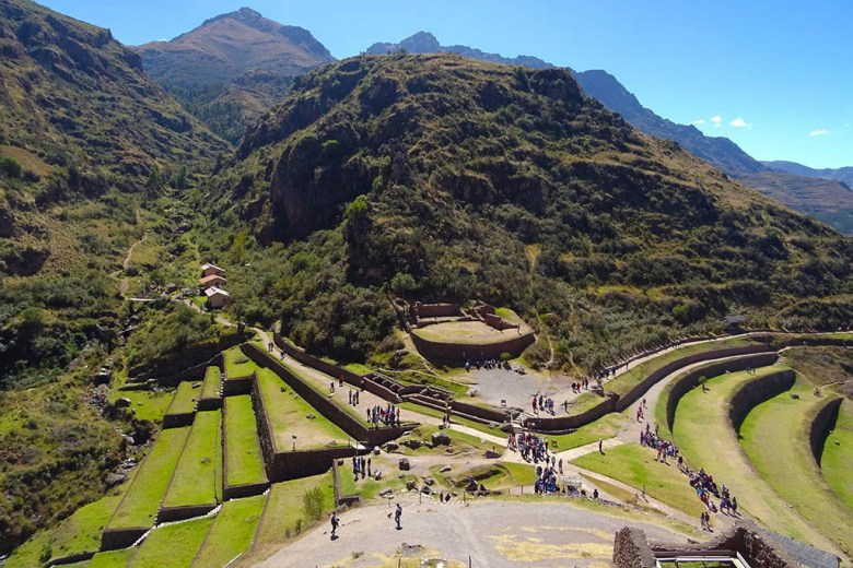 Sites like the Pisac Ruins in the Sacred Valley blend history with natural beauty
