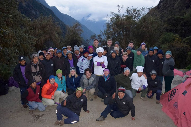 Our group with the team of guides and porters that made the experience possible