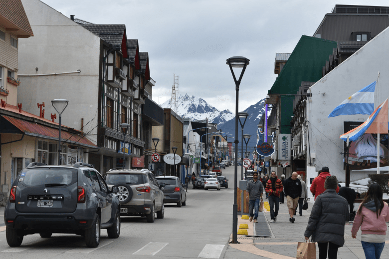 Avenida San Martin is Ushuaia's main shopping street