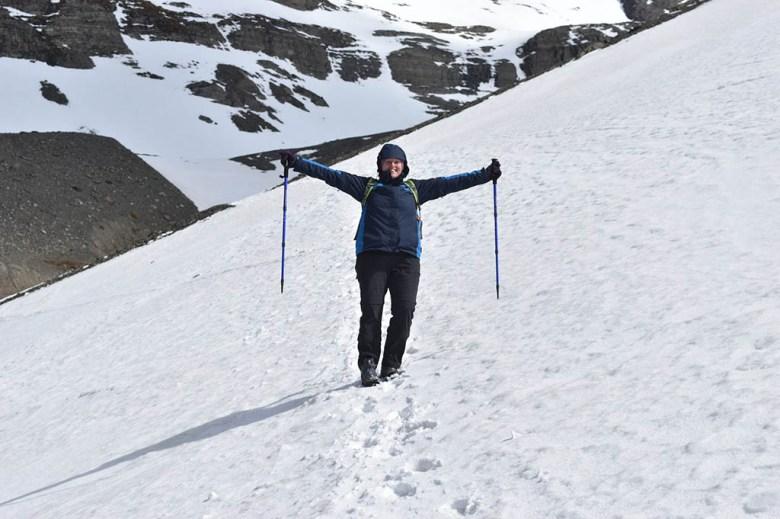 Trekking poles on Glaciar Martial Ushuaia