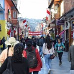 Streets of Puno in Peru