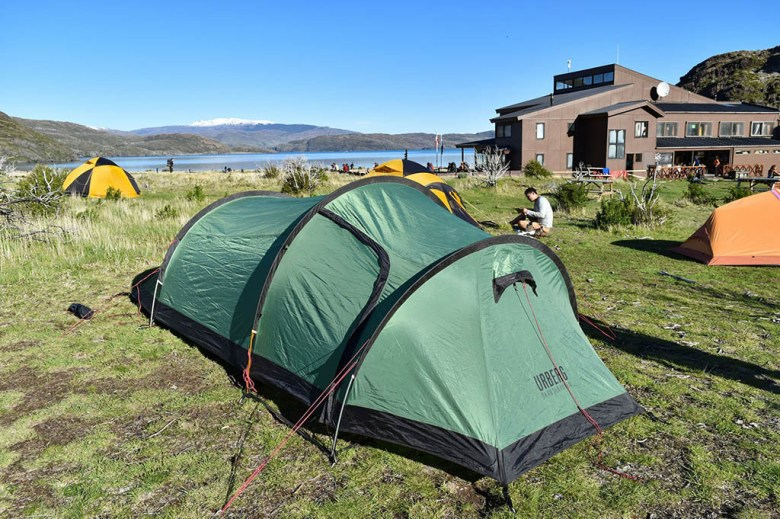 Our Urberg 3-person tunnel tent protected us in the harsh weather of Torres Del Paine National Park