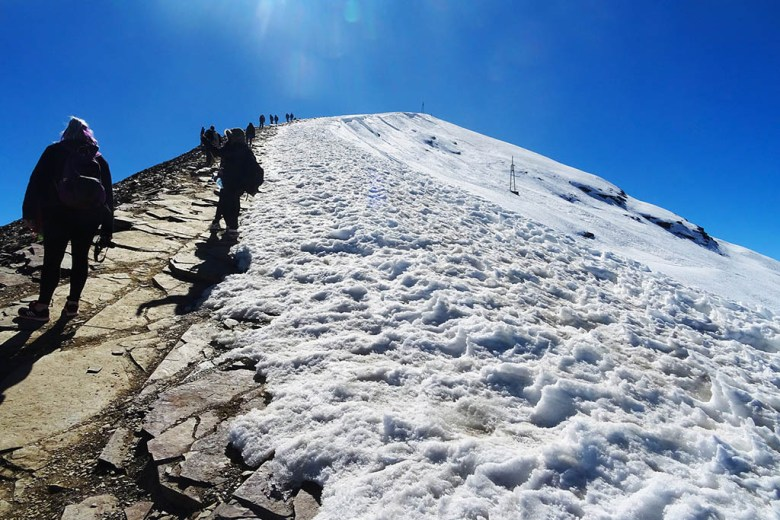 Climbing to the summit of Chacaltaya, more than 5,400m above sea level