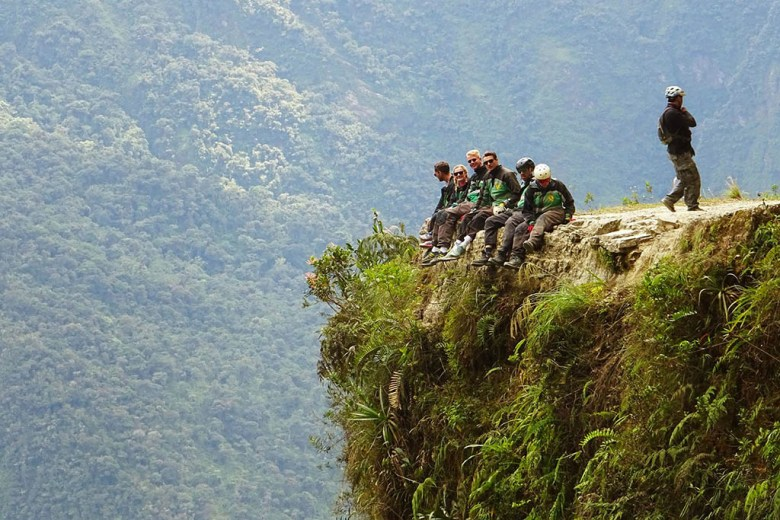 Cycling down Yungas Road, touted as the world's most dangerous road, is a popular activity near La Paz