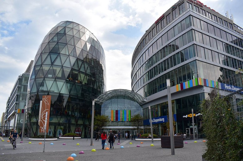 Eurovea is a large modern shopping, dining and entertainment complex not far from Bratislava's Old Town