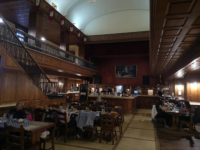Flag Ship, set inside an old theatre, is one of Europe's largest restaurants