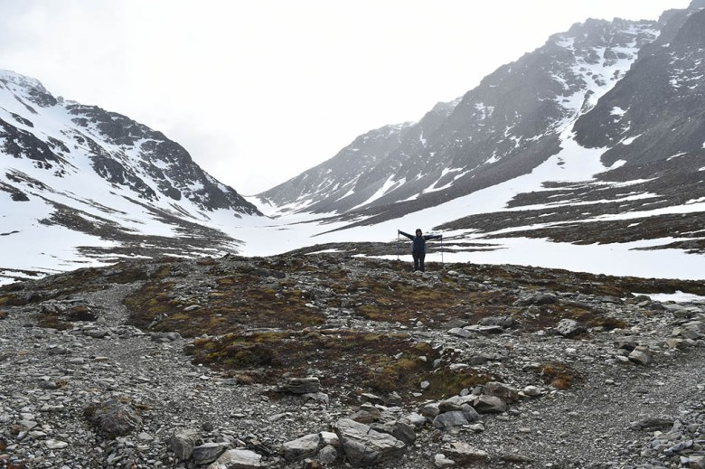 We nearly got caught out by the weather on our day hike to Glaciar Martial