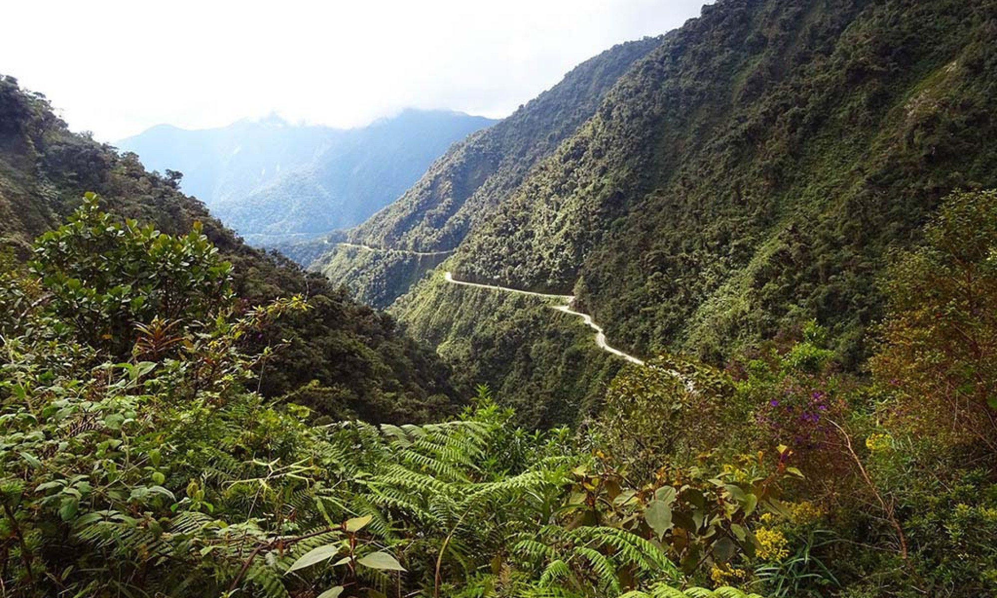 North Yungas Road in Bolivia is renowned as one of the world's most dangerous roads