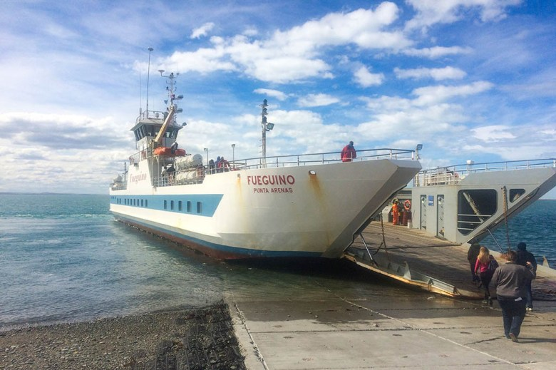 The journey from Ushuaia to Punta Arenas is broken up by a ferry transfer across the Beagle Channel
