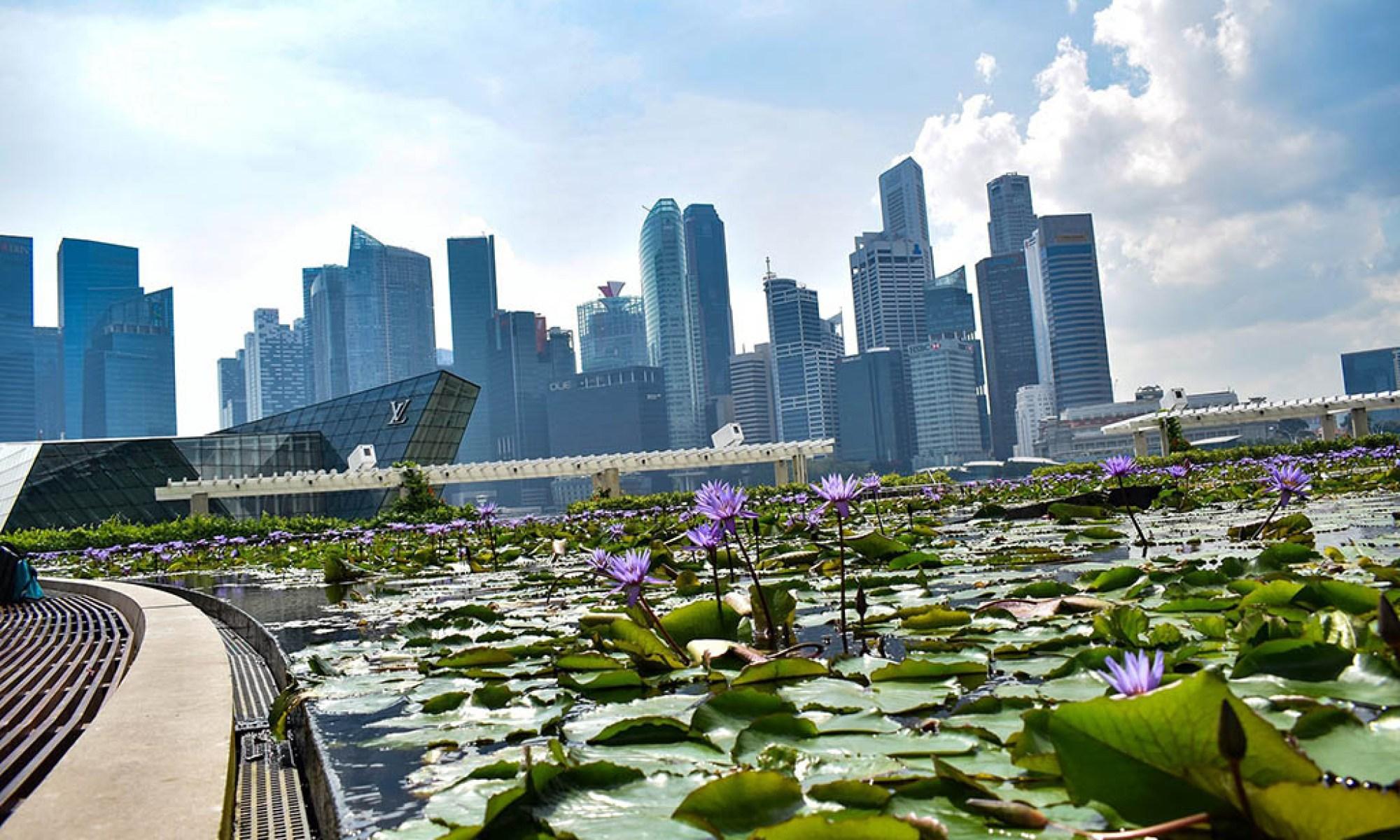 Singapore City financial district