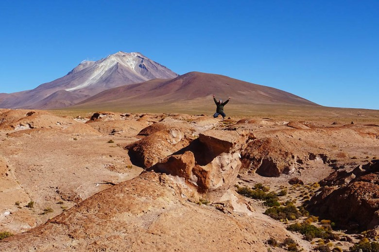We made a viewpoint stop to see Ollagüe Volcano