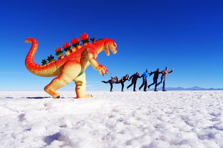 No visit to Salar de Uyuni is complete without taking the obligatory perspective photos