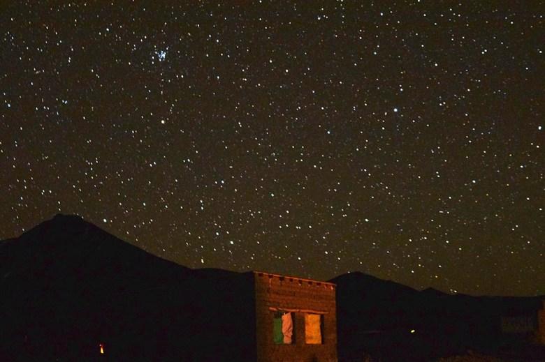 The night skies at Huayllajara were spectacular on the last night of our Salar de Uyuni tour