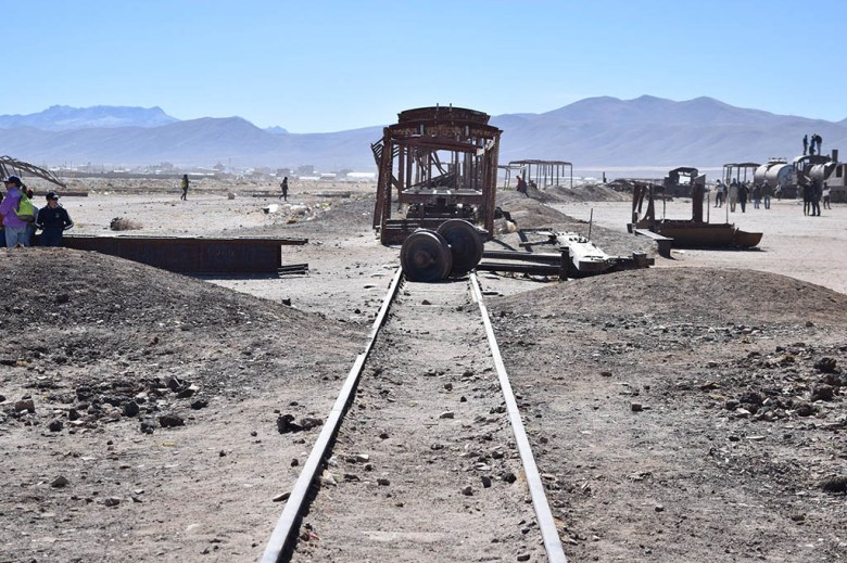 The Train Cemetery in Uyuni is filled with abandoned locomotives, some over a century old