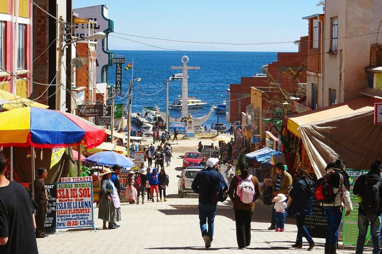 Our Bolivia itinerary begins in the town of Copacabana on the shores of Lake Titicaca